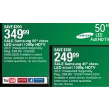 "Samsung 50"" 1080p LED Smart HDTV (UN50J5200)"