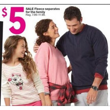 $5 Girls' Fleece Separates (Assorted Styles)