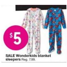 $5 Wonderkids Girls' Blanket Sleepers (Assorted Styles)