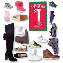 BOGO $1.00 Family Footwear