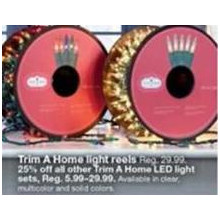 50% OFF Trim A Home Solid Color Light Reels (Assorted Colors)