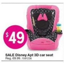 Disney Minnie Mouse 2-in-1 Car Seat