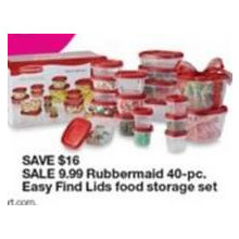Rubbermaid 40-pc. Easy Find Lids Food Storage Set