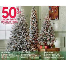 Jaclyn Smith Colorado Flocked Pencil Pine 7-ft. Pre-Lit Christmas