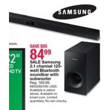 Samsung 2.1 Channel 120W Bluetooth Soundbar w/ Subwoofer