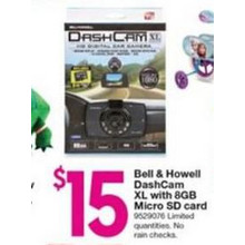 Bell & Howell DashCam XL with 8GB Micro SD Card