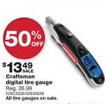 Craftsman Programmable Digital Tire Gauge