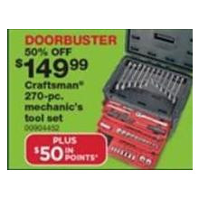 Craftsman Mechanics 270-pc. Tool Set [EarlyBird]