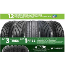 B3G1 Select Tires w/ Purchase of Alignment and Installation