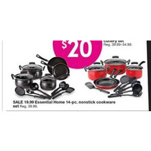 Essential Home 14-pc. Nonstick Cookware