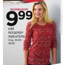 Kim Rogers Womens Sweaters (Assorted Styles) [EarlyBird]