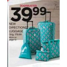 New Directions Luggage (Assorted Styles) [EarlyBird]