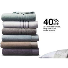 40% Off Fieldcrest Towels
