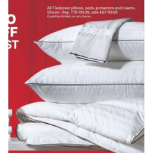 Fieldcrest Pillows, Pads, Protectors & Inserts $4.69 & Up