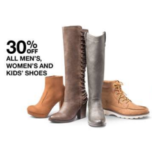 30% Off Womens' Shoes