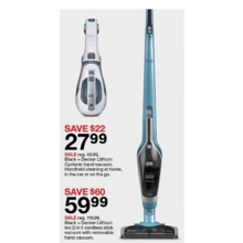 Black & Decker Lithium Ion 2-in-1 Cordless Stick Vacuum