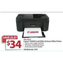 Canon MX490 Small Office & Home Office Printer