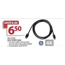GE 6-ft. HDMI Cable