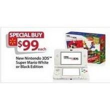 Nintendo 3DS Super Mario White Edition