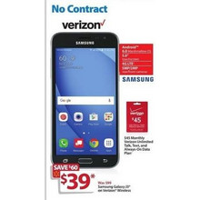 "Samsung Galaxy J3 4G LTE 5.0"" (Verizon) + $45 Talk, Text & Data"