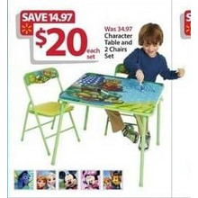 Character Table & Chairs Set (Finding Dory)