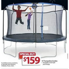 Trampoline 14-ft. Combo w/ Mini Ball & Hoop