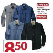 Wrangler Mens Twill Shirt (Assorted Colors)