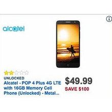 Alcatel POP 4 Plus 4G LTE w/ 16GB Storage Unlocked Cell Phone