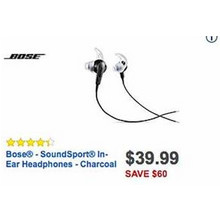 Bose SoundSport Charcoal In-Ear Headphones
