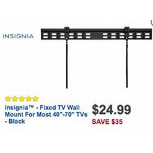 "Insignia Fixed TV Wall Mount for Most 40""-70"" TV's"