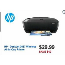 HP DeskJet 3637 Wireless All-in-One Printer