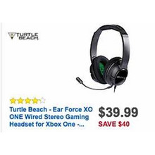 Turtle Beach Ear Force XO ONE Wired Stereo Gaming Headset (Xbox One)