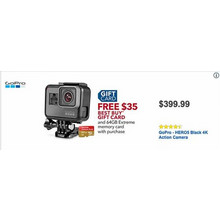 GoPro GERO5 Black 4K Action Camera + $35 Gift Card