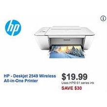 HP Deskjet 2549 Wireless All-In-One Printer