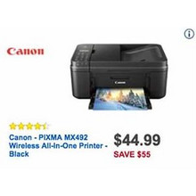Canon All-in-One Wireless Printer (PIXMA MX492)