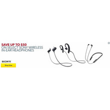 Up to $50 Off - Sony Wireless In-ear Headphones