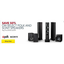50% OFF Polk Speakers