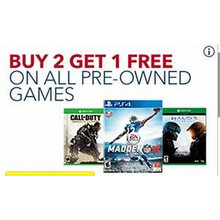 B2G1 FREE Pre Owned Video Games