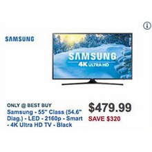 "Samsung 55"" LED 4K Ultra HDTV [EarlyBird]"