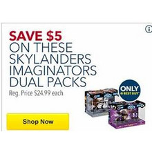 $5 OFF Skylander Imaginators Dual Packs