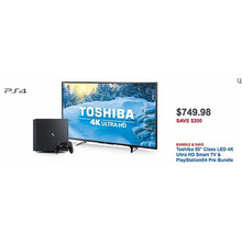 "Toshiba 55"" 4K LED Smart HDTV + PlayStation 4 Pro Bundle"