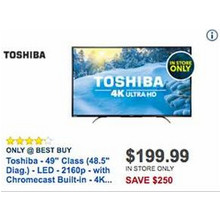 "Toshiba 49"" LED 4K Ultra HDTV [EarlyBird]"