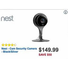 Nest Cam Security Camera (Black/Silver) [EarlyBird]