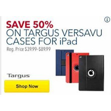 50% OFF Targus Versavu Cases for iPad