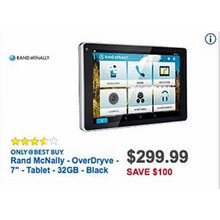 "Rand McNally OverDryve 7"" Black 32GB Tablet"