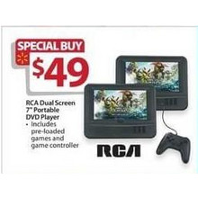 "RCA Dual Screen 7"" Portable DVD Player"