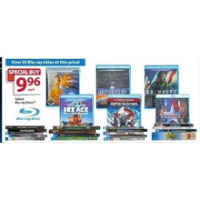 $9.96 Assorted Blu-ray DVD's