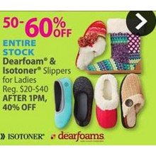 Isotoner Ladies Slippers UP TO 60% OFF