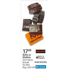 Dockers Belts (Assorted Styles)