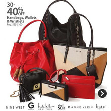Nine West Handbags (Assorted Styles) UP TO 40% OFF